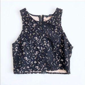 🌷3 FOR $25 SALE🌷 Olivaceous black lace crop top